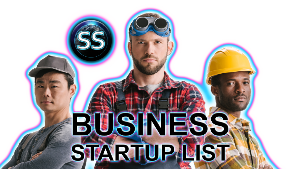 busineSS start up list with skyshot digital design, website, online marketing, web content, print design, business 4.2