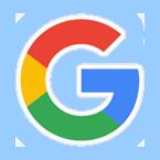 google round logo glow